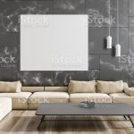 Black Marble Living Room Beige Sofa Poster Stock Photo Download Image Now Istock