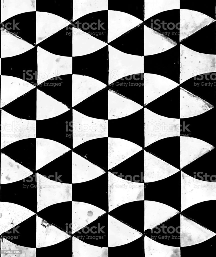 black white geometric cement tile textured stock photo download image now istock