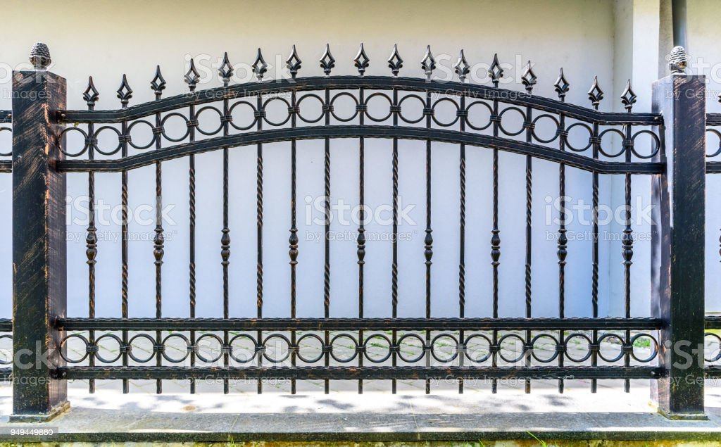 Black Wrought Iron Fence Stock Photo Download Image Now Istock