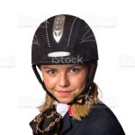 Blonde Teenager In Black Horse Riding Outfit Stock Photo Download Image Now Istock