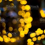 Blur Abstract Background And Bokeh Decorative Outdoor String Lights Hanging In The Garden Stock Photo Download Image Now Istock