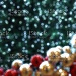 Bokeh Light Green Christmas Tree Gold Red Ball Ornament Defocused Stock Photo Download Image Now Istock