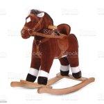 Brown Plush Rocking Horse Stock Photo Download Image Now Istock