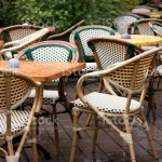 Cafe Outdoor Restaurant Table And Chair Stock Photo Download Image Now Istock
