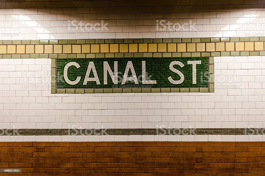 https www istockphoto com photo canal street subway tile mosaic gm489001634 74480471
