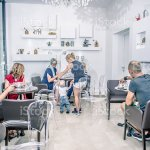 Child Boys First Steps At Coffee Bar Cafe Trieste Europe Stock Photo Download Image Now Istock