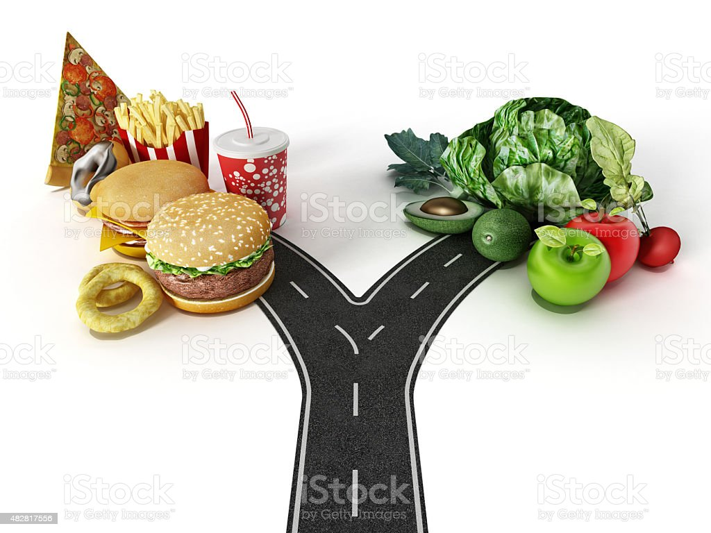 Fast Food And Healthy Food
