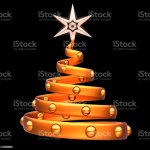 Christmas Tree Abstract Decoration Orange Golden Stock Photo Download Image Now Istock