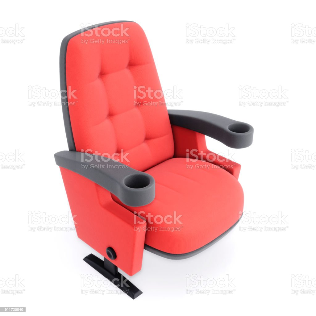 https www istockphoto com fr photo chaise cin c3 a9ma isol c3 a9 sur fond blanc gros fauteuil rouge illustration 3d gm911706646 251013753