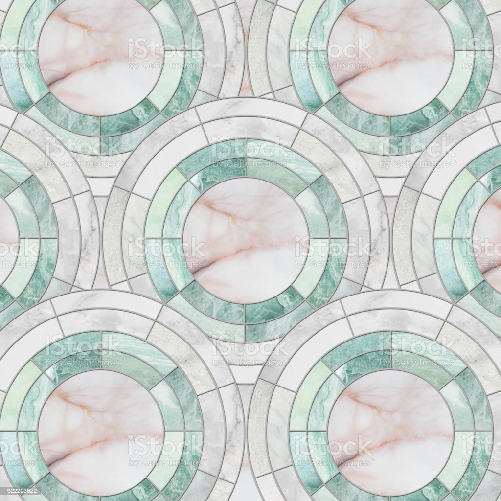 closeup surface tile circle pattern by mix of color marble stone floor texture background stock photo download image now istock