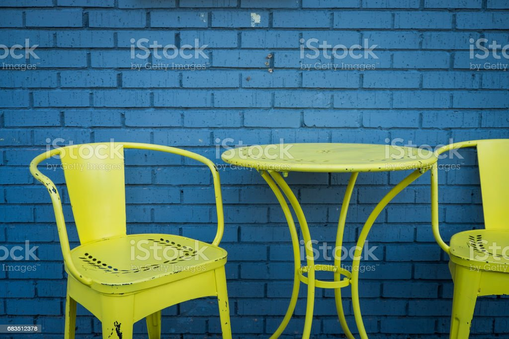 colorful patio table and chairs stock photo download image now istock