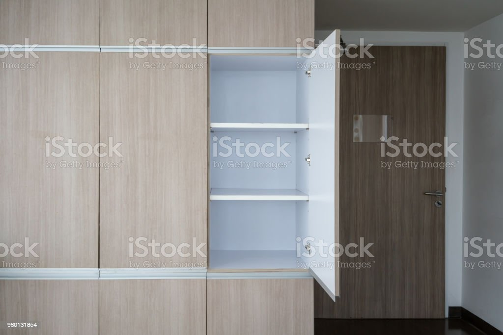 Contemporary Modern Fully Fitted Wooden Storage Cabinet For Interior Design Stock Photo Download Image Now Istock