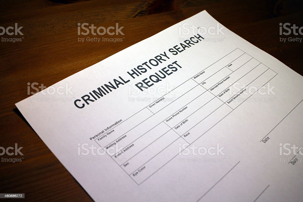 Criminal Background Check Request stock photo   iStock