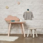 Cute Corner In The Nursery Room Wooden Kids Furniture