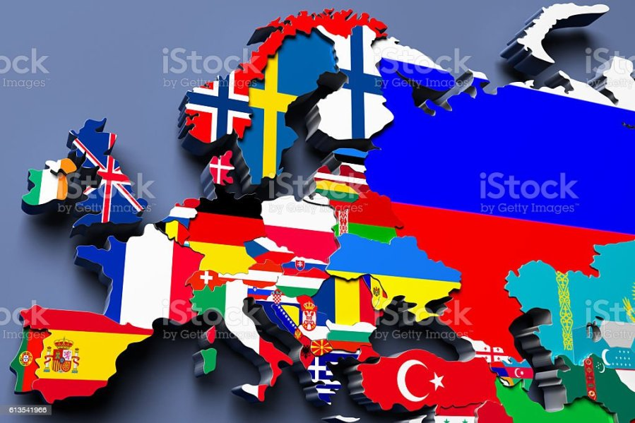 Europe Political Map 3d Illustration Stock Photo   More Pictures of     Europe political map 3d illustration royalty free stock photo