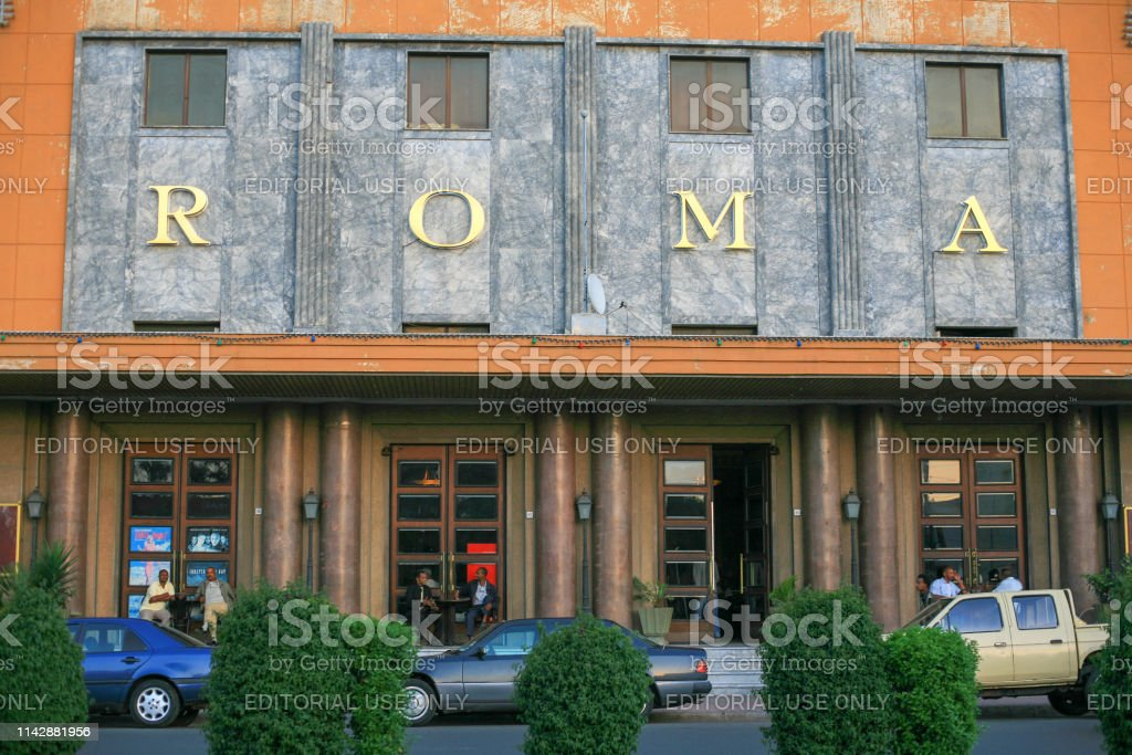 facade of cinema roma a colonial times art decostyle cinema in asmara the capital city of eritrea stock photo download image now istock
