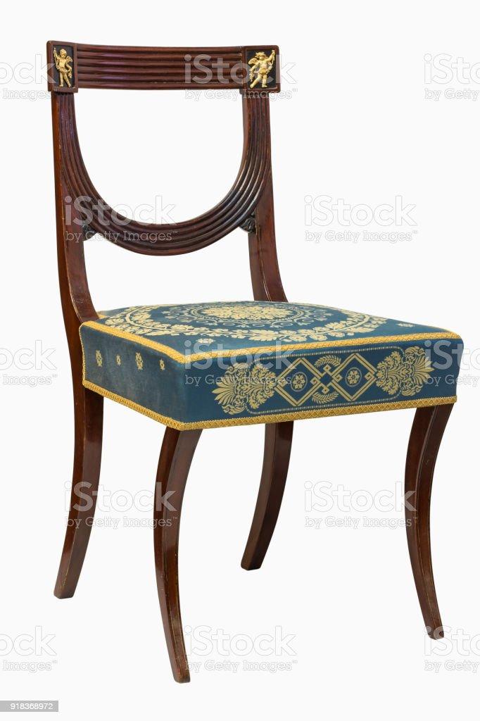 https www istockphoto com fr photo chaise de style empire mont c3 a9 de fran c3 a7ais cisel c3 a9 gm918368972 252623289