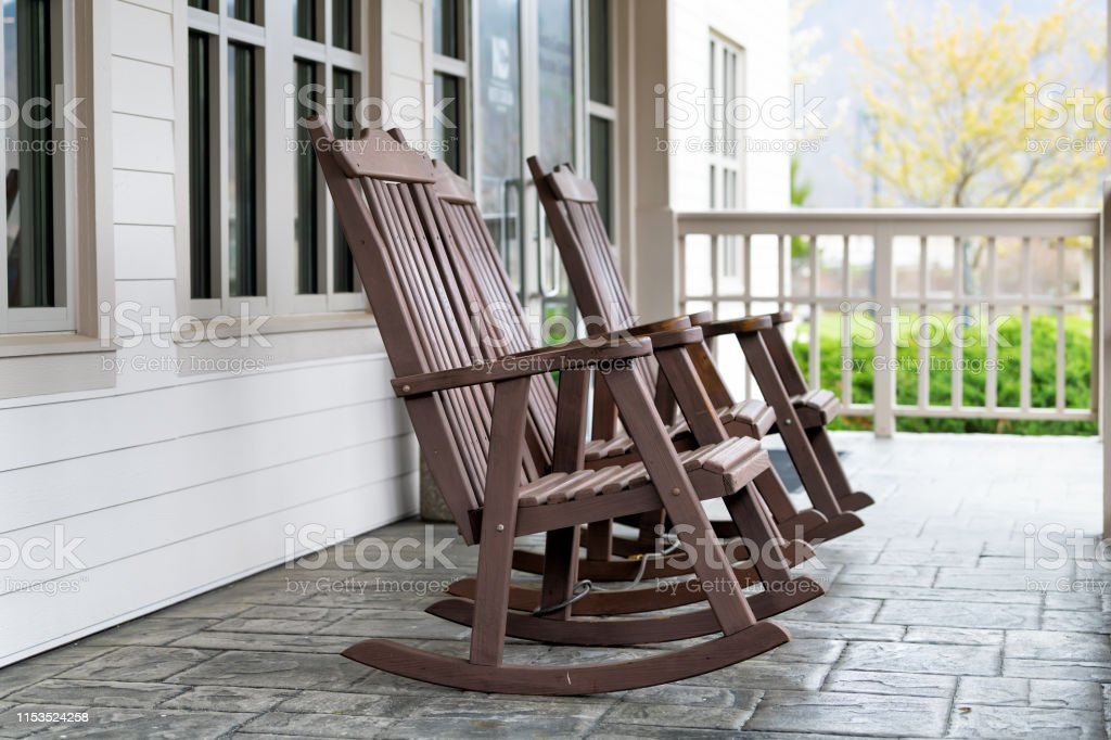 White Rocking Chairs Front Porch