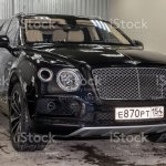 Front View Of Luxury Very Expensive New Black Bentley Bentayga Car Stands In The Washing Box Waiting For Repair In Auto Service Stock Photo Download Image Now Istock
