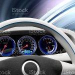 Futuristic Electric Vehicle Dashboard And Interior Design Stock Photo Download Image Now Istock