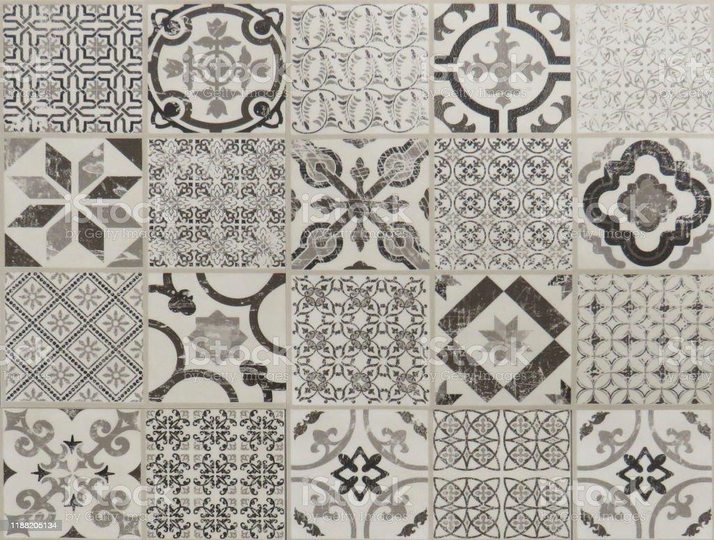 geometric square tiles vintage ceramic tiles background stock photo download image now istock