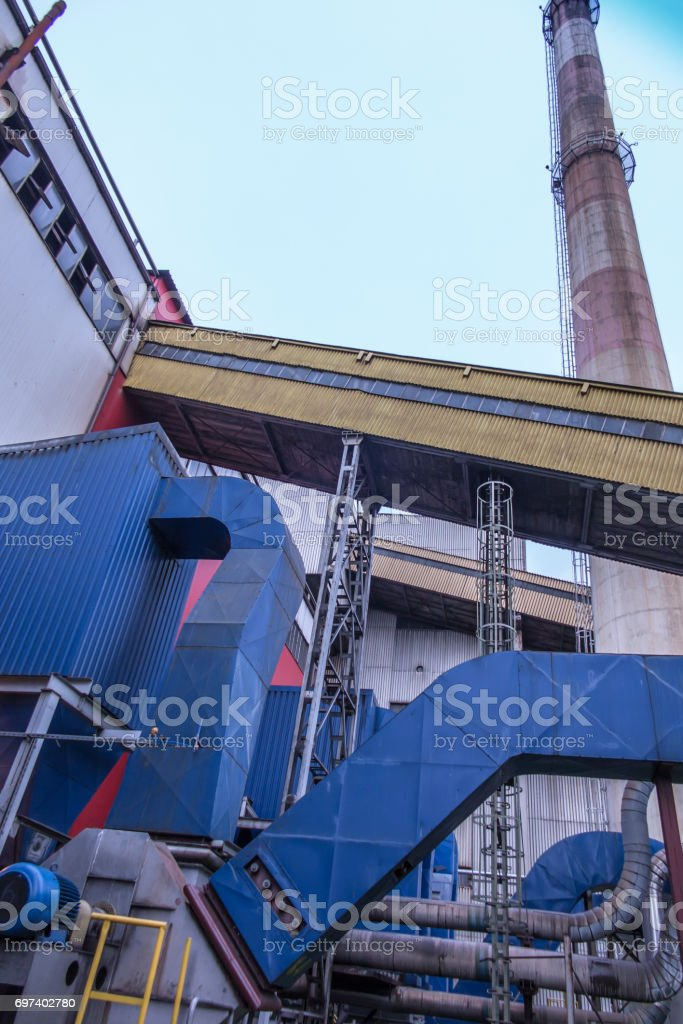 https www istockphoto com photo gravity dust collector and exhaust fan behind coal boiler gm697402780 129159689