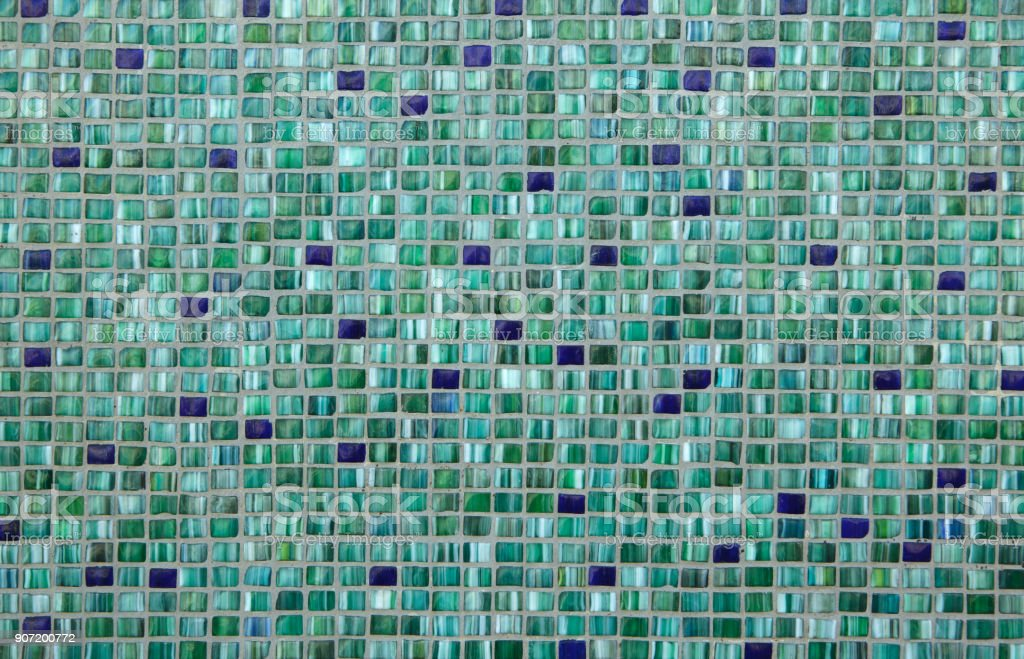 green mosaic tiles background texture stock photo download image now istock