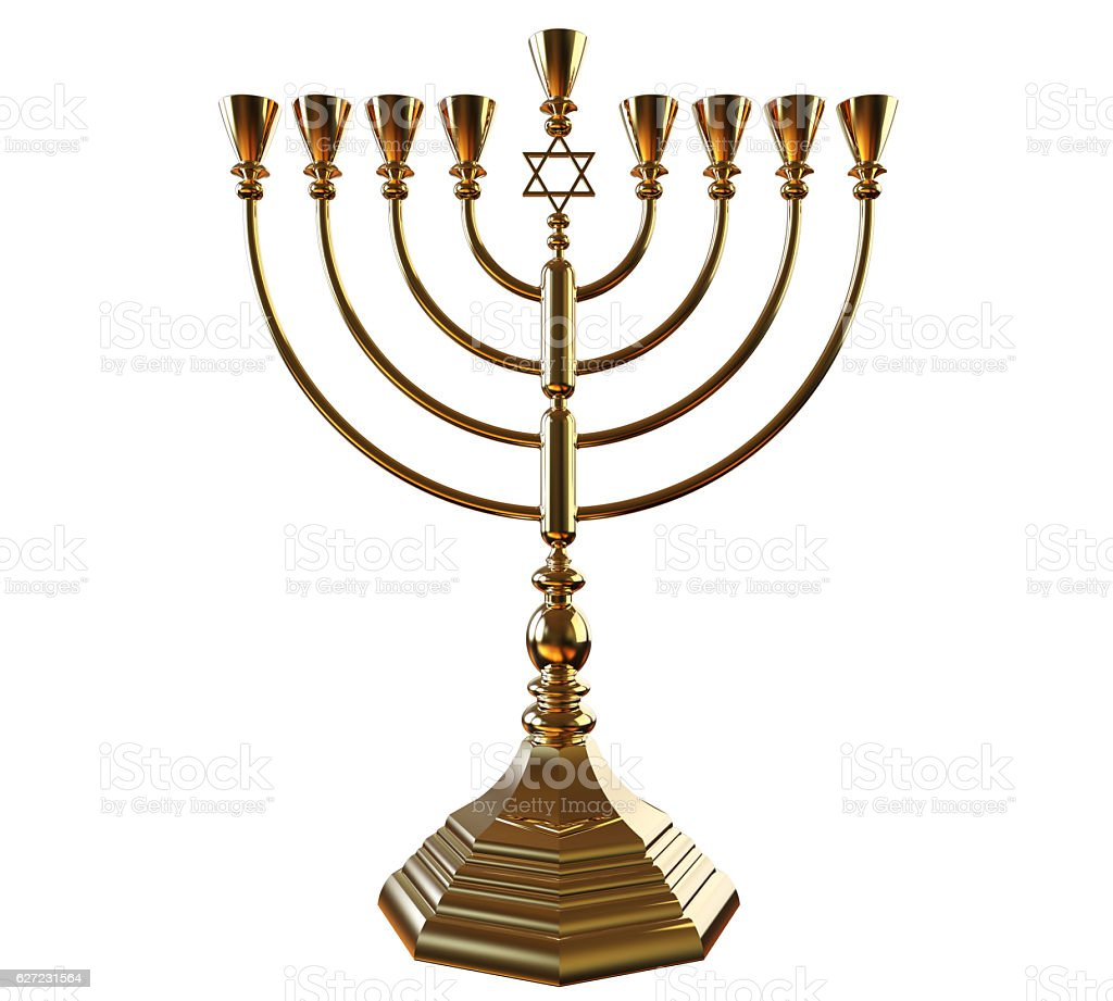hanukkah menorah 3d render photo libre de droits