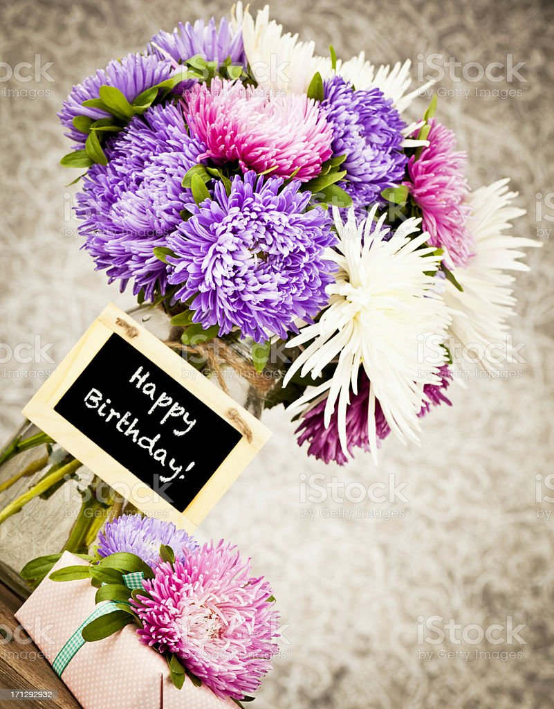 Happy Birthday Flowers And Gift Stock Photo Download Image Now Istock