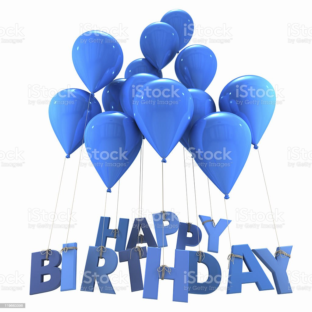 Happy Birthday With Blue Balloons Stock Photo Download Image Now Istock