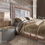 Innere Der Gemutliche Schlafzimmer In Modernem Design Mit Sessel Stehlampe Tv Gerat Versenkbare Tv Und Kleid Tisch Stockfoto Und Mehr Bilder Von Behaglich Istock