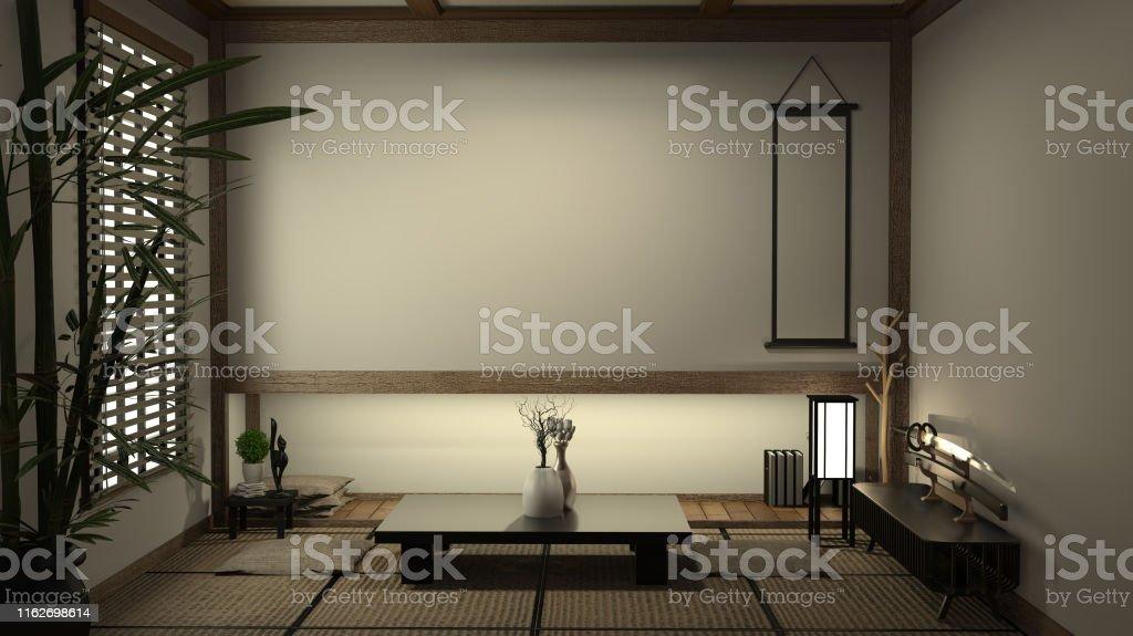 https www istockphoto com fr photo tapis de tatami de salon de japan et d c3 a9coration japonaise traditionnelle mod c3 a8le gm1162698614 319005830