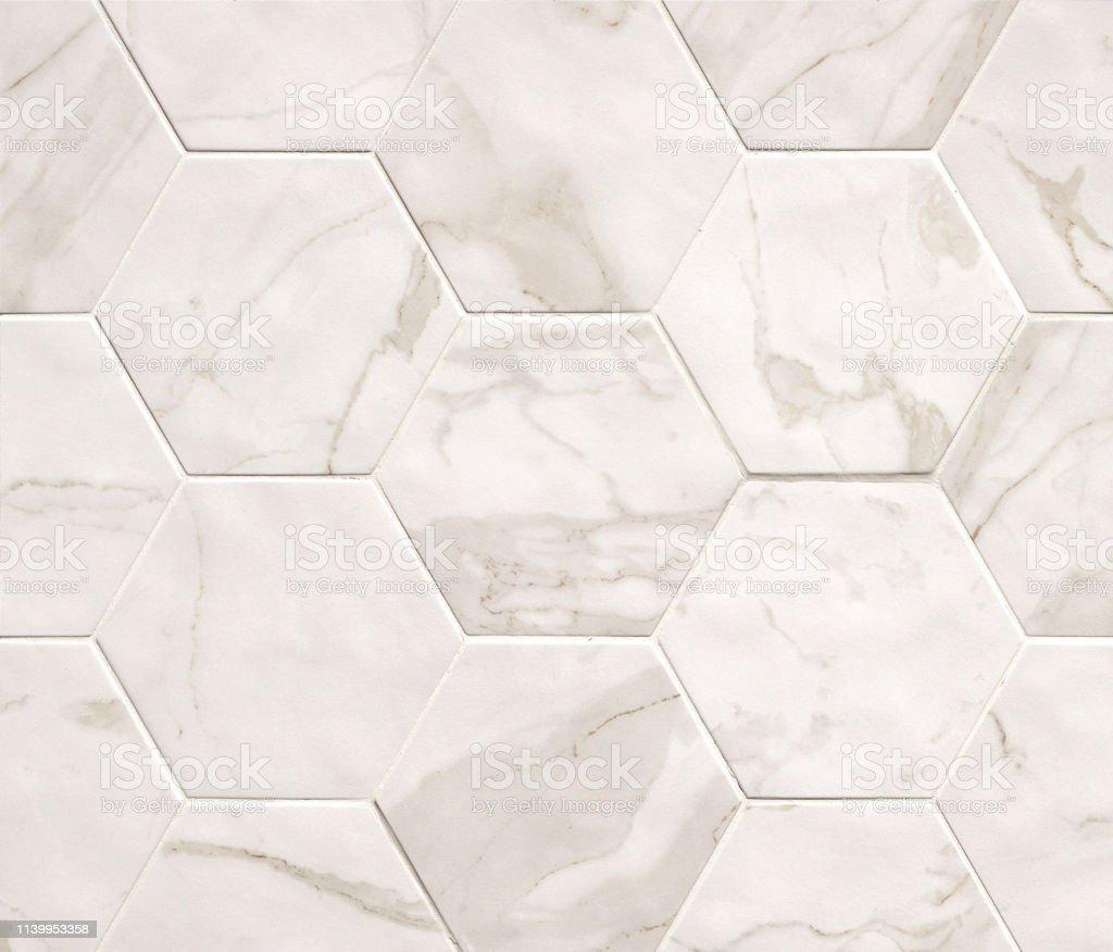 photo libre de droit de fond de texture de mosaique de marbre hexagonal beige clair carreaux de marbre avec motif naturel banque d images et plus d images libres de droit de abstrait
