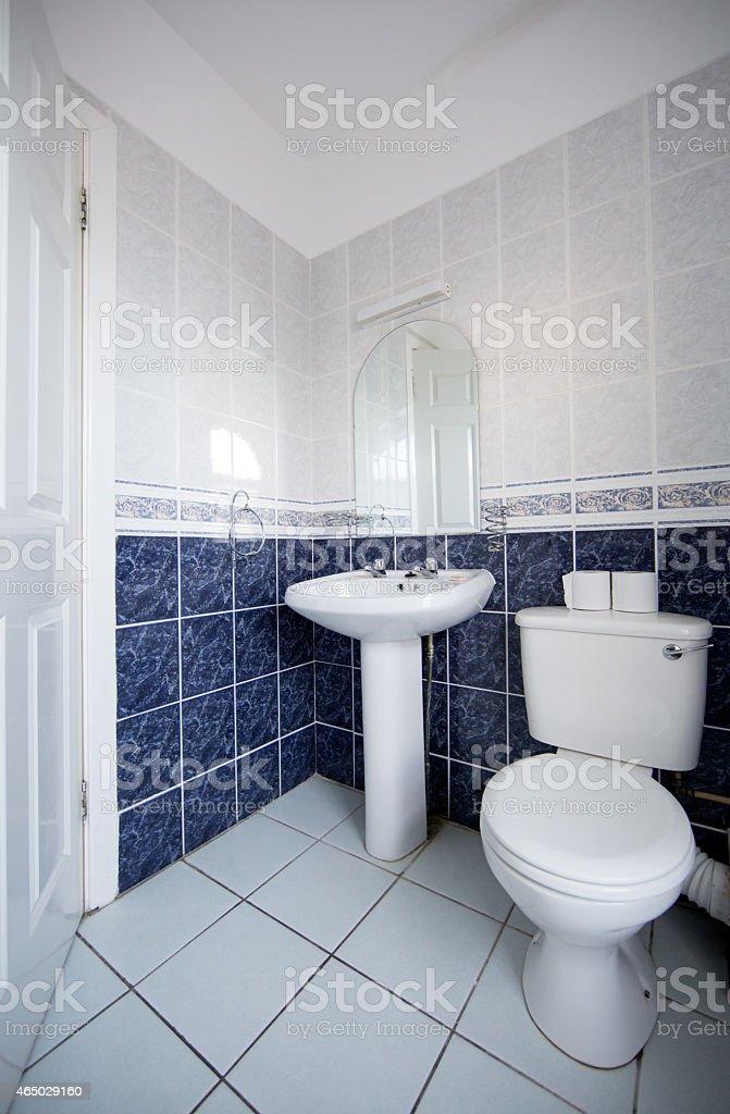 https www istockphoto com fr photo magnifique salle de bain en carrelage bleu et blanc gm465029160 59383258
