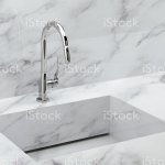 Luxury Water Tap With Marble Kitchen Sink Stock Photo Download Image Now Istock