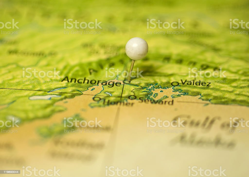 on a map royalty free stock