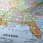 Map Of The Southeast United States Stock Photo Download Image Now Istock