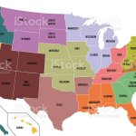 Map Of United States Of America With State Names Stock Photo Download Image Now Istock