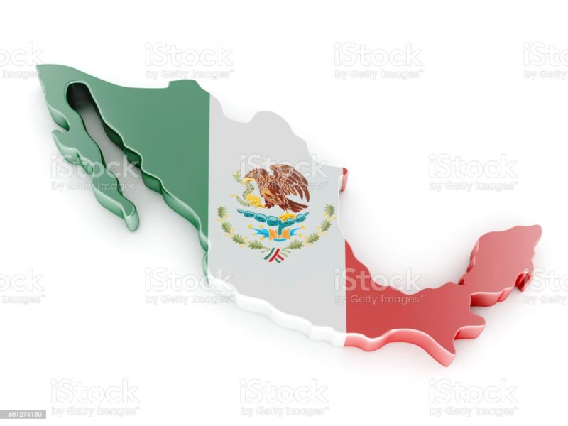 Royalty Free Mexico Map Pictures  Images and Stock Photos   iStock Mexico Map  3D Illustration stock photo