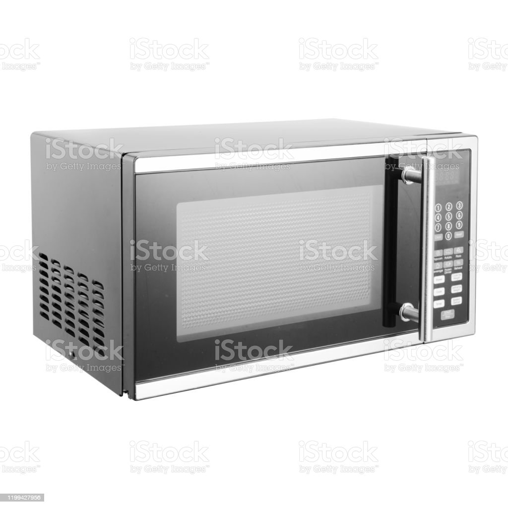 microwave oven isolated on white background side view of stainless steel overtherange microwave oven household kitchen major and domestic appliances home innovation stock photo download image now istock