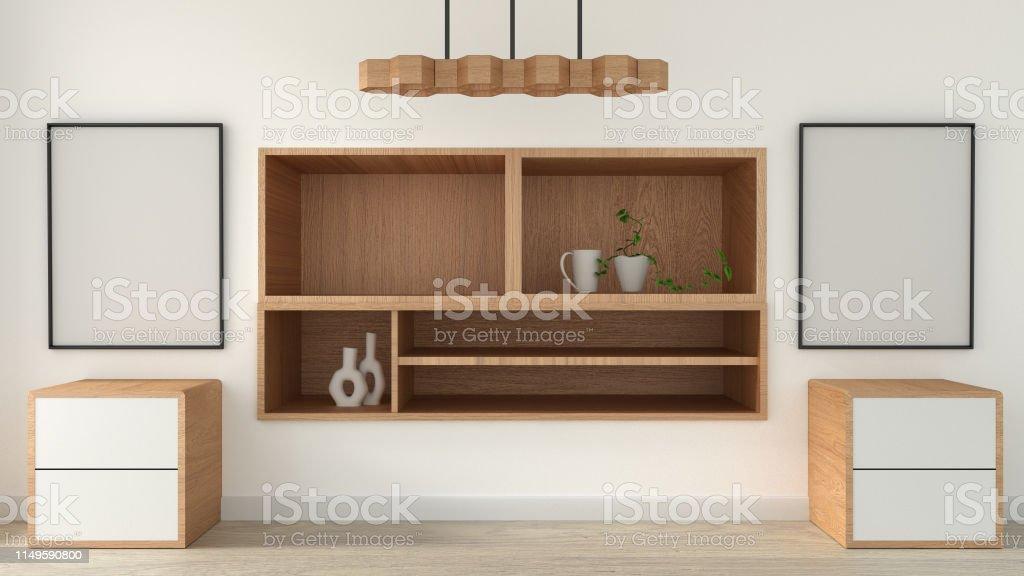 https www istockphoto com fr photo mock up meuble tv dans la salle vide moderne japonais style zen designs minimaux gm1149590800 310882822