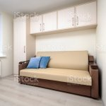 Modern Bedroom With White Wardrobe And Double Bed Stock Photo Download Image Now Istock