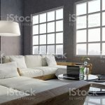Modern Classic Interior Of Living Room Sofa Set In The Large Living Room 3d Rendering Stock Photo Download Image Now Istock