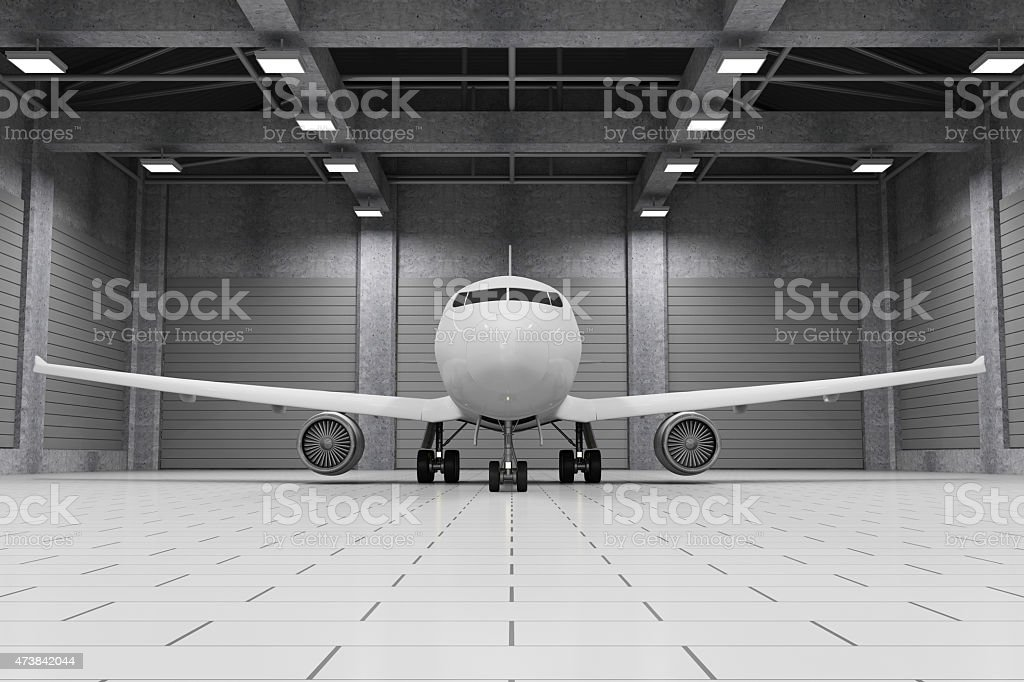 Royalty Free Hangar Pictures  Images and Stock Photos   iStock Modern Hangar Interior with Modern Airplane Inside stock photo