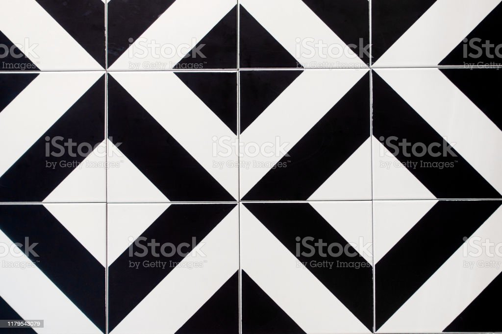 modern tile wall with black and white pattern stock photo download image now istock