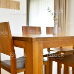 Natural Oak Wood Dining Table And Chairs In Modern Interior Design House Stock Photo Download Image Now Istock