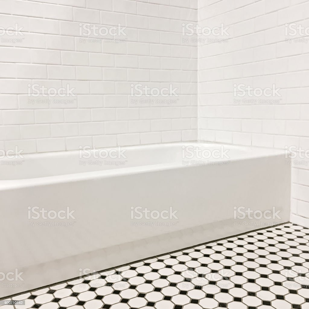 new bathroom with ceramic tile walls and floor stock photo download image now istock