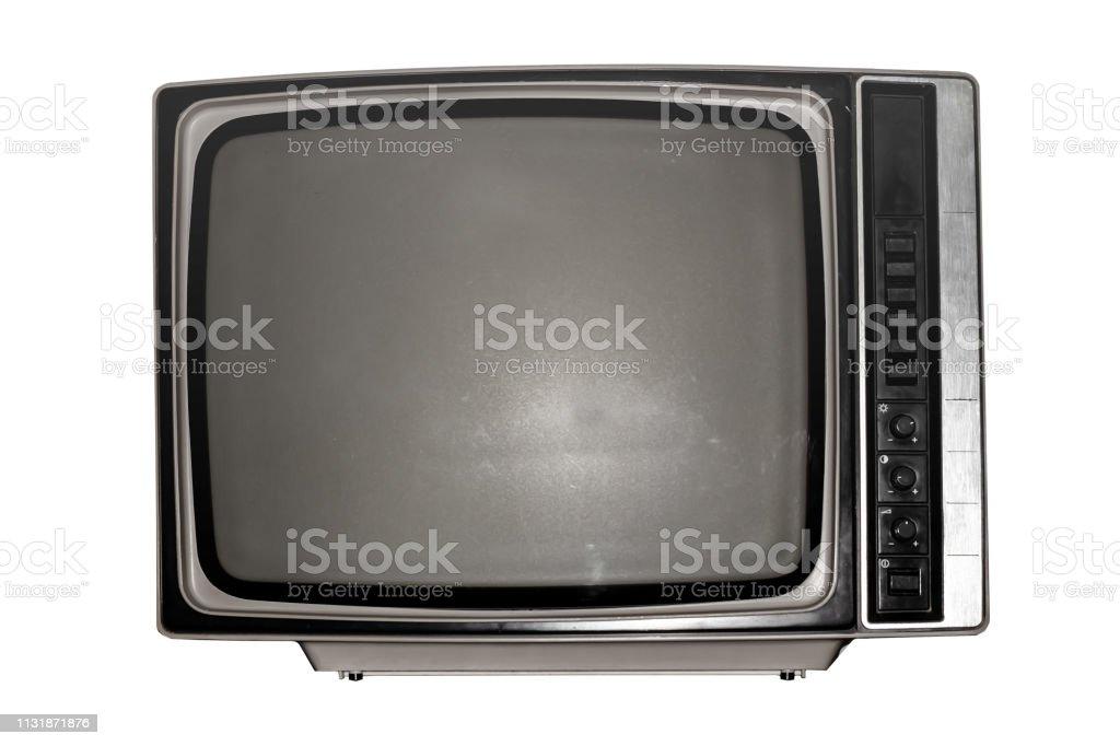 photo libre de droit de vieux televiseur noir et blanc avec un ecran sombre banque d images et plus d images libres de droit de analogique istock
