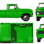 Old Green Pickup Truck Template Isolated On White Background Stock Photo Download Image Now Istock