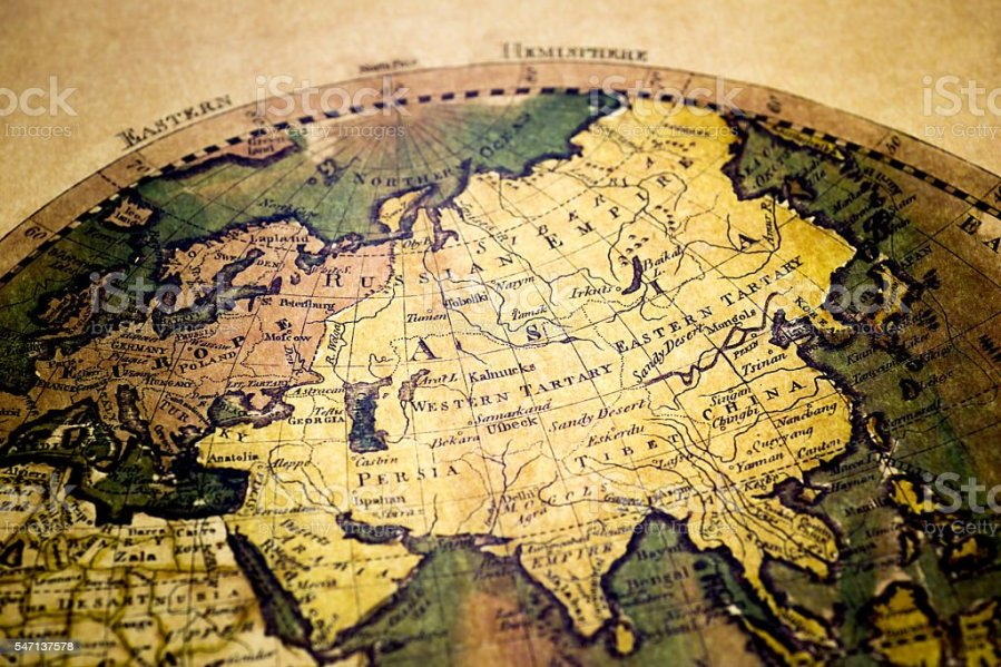 Old Map Of Europe And Asia Stock Photo   More Pictures of Asia   iStock Old Map of Europe and Asia royalty free stock photo